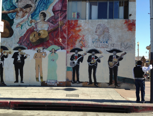 A mural along Boyle Avenue, just off Boyle Heights' Mariachi Plaza.