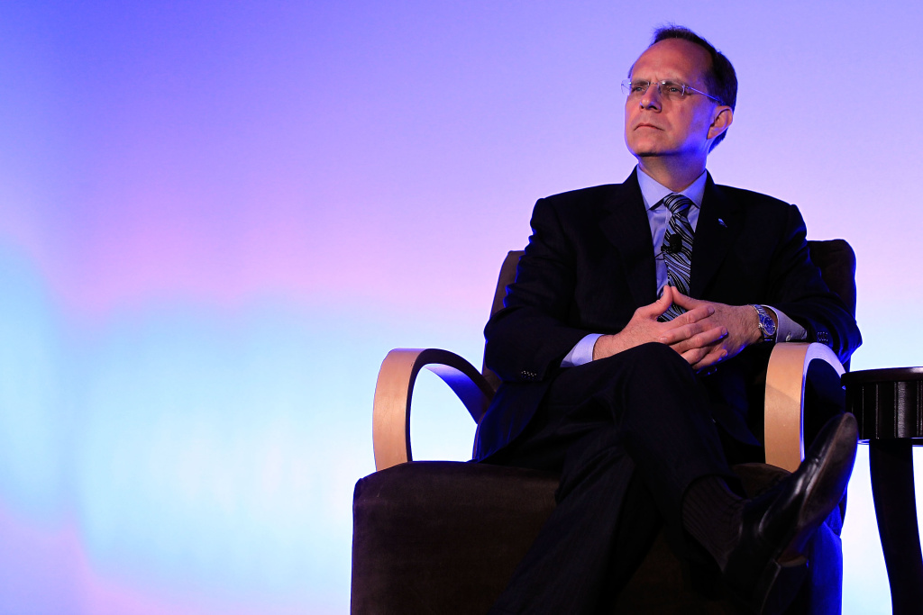 JetBlue Airways President and CEO David Barger listens during a discussion at the Compliance Week 2010 conference May 24, 2010 in Washington, DC.