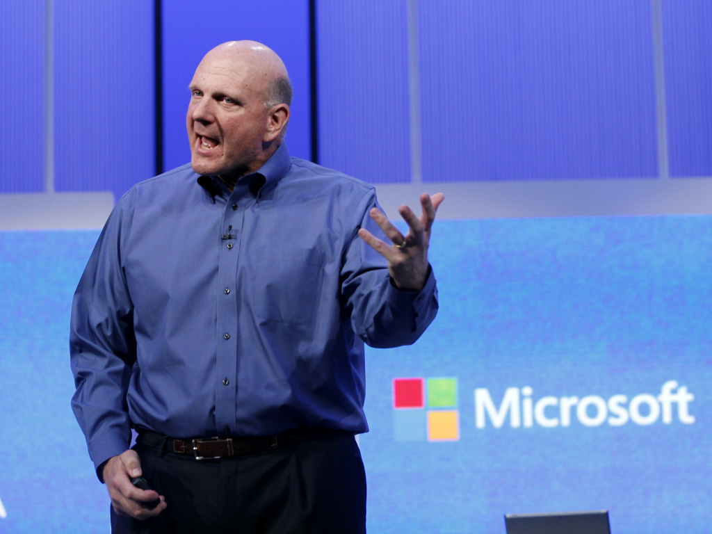 Microsoft CEO Steve Ballmer in June at the Microsoft