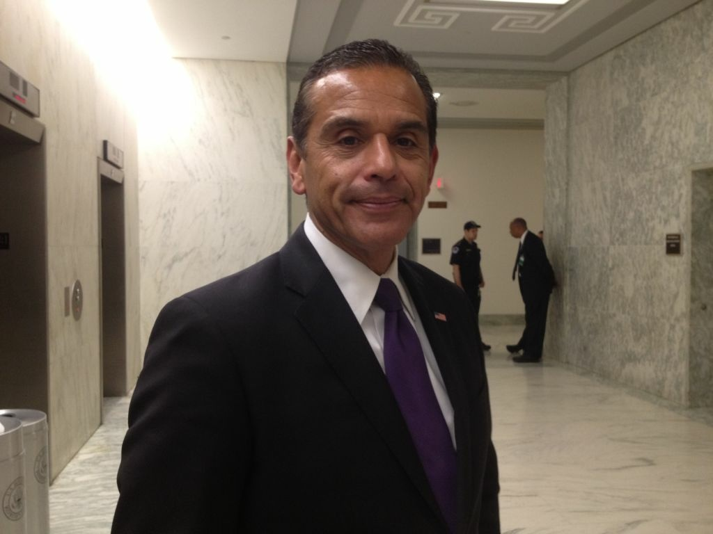 L.A. Mayor Antonio Villaraigosa was in Washington, DC Tuesday to meet with lawmakers about sequestration and transportation issues.