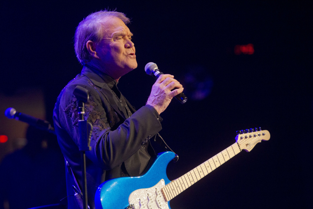 File: Glen Campbell performs during The Goodbye Tour at the Ryman Auditorium on Jan. 3, 2012 in Nashville, Tennessee.