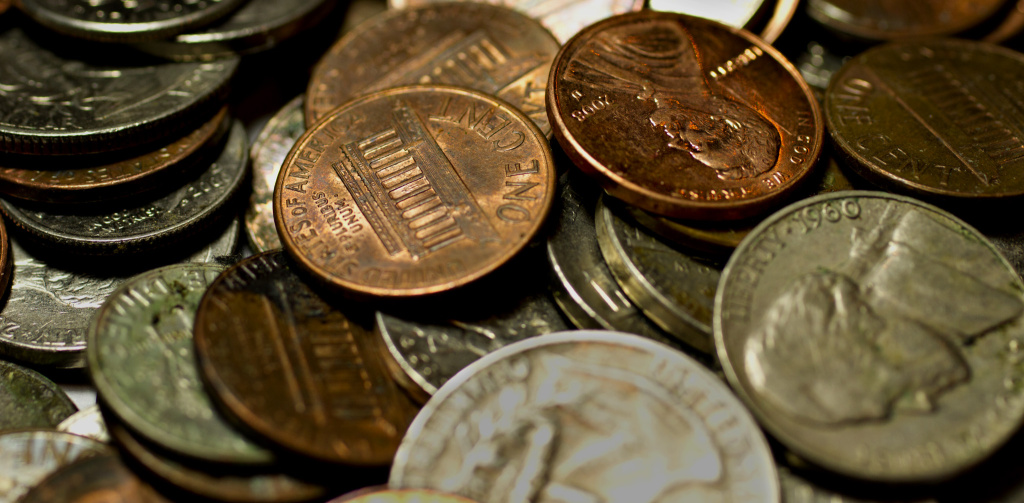 loose change coins money