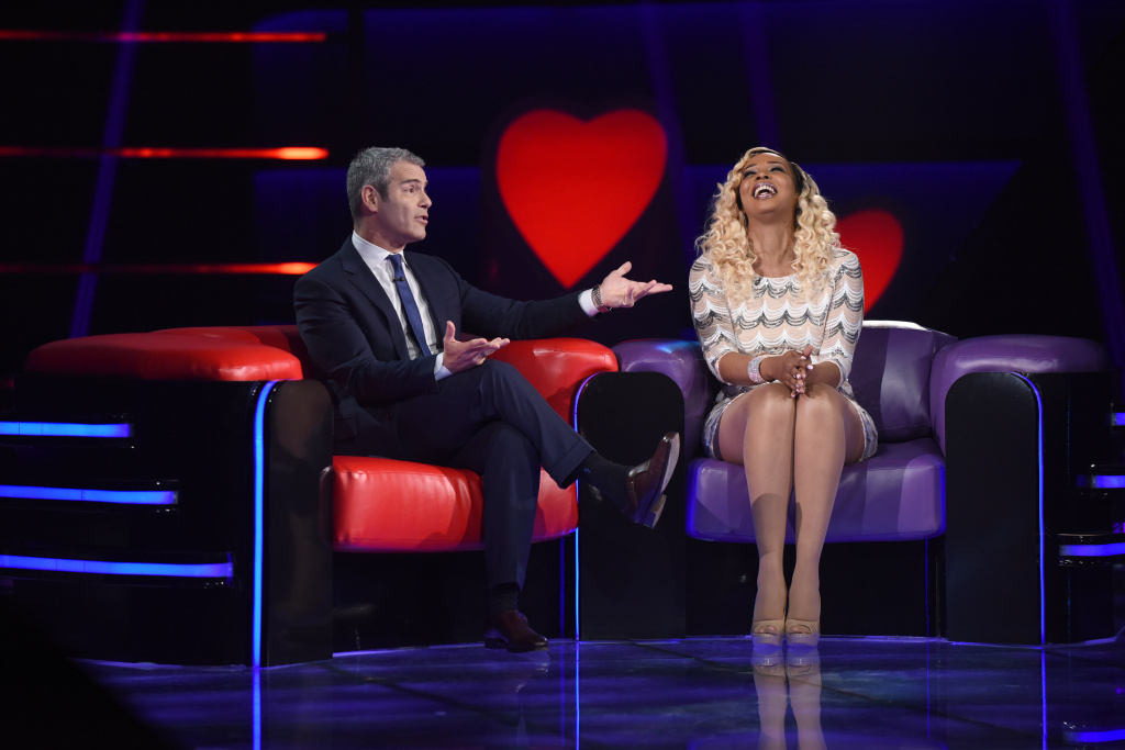 L-R: Host Andy Cohen and Single Sheena Nicole Williams in the series premiere of LOVE CONNECTION airing Thursday, May 25 (9:00-10:00 PM ET/PT) on FOX.