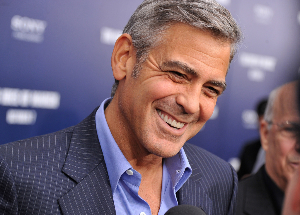 George Clooney attends the premiere of