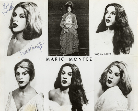 Mario Montez disappeared from the drag performing scene in his later years. However in his 70s he connected with artist Conrad Ventur who took pictures with him inspired by Hollywood stars like Maria Montez.