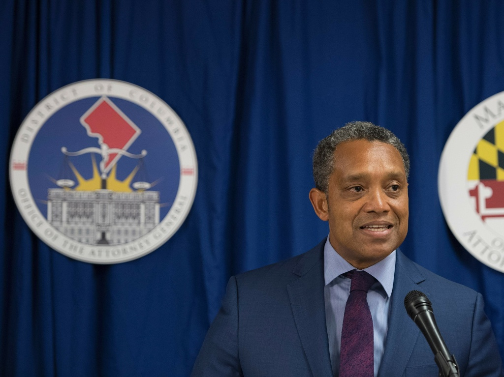 Washington, D.C. Attorney General Karl Racine speaks during a news conference in 2017.