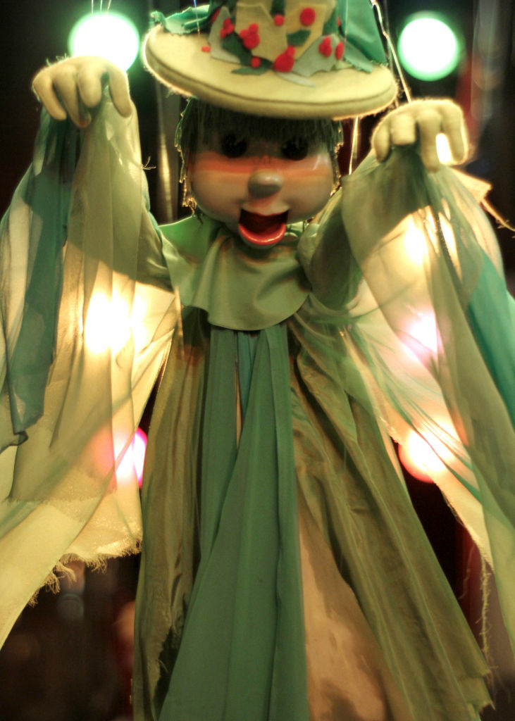 "Witch puppet from ""Bob Baker's Halloween Hoop-Dee-Do"" at the famous downtown Los Angeles marionette theater."