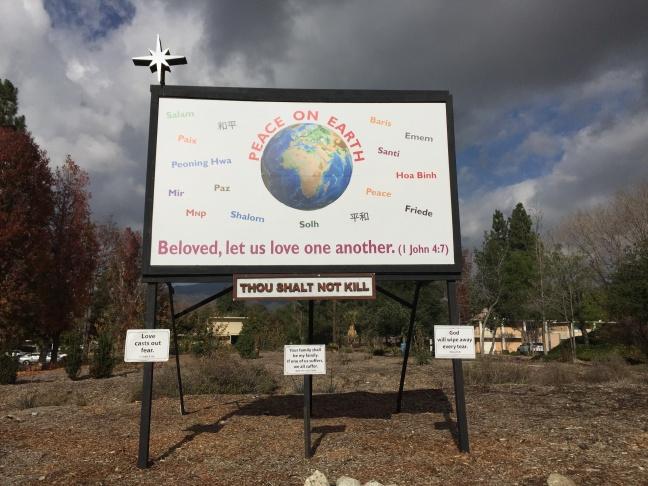 A banner declaring