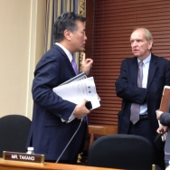 Congressman Takano at a Space, Science, and Technology hearing