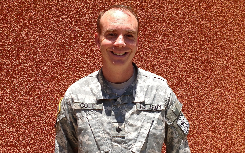 Lt. Colonel Steve Cole is one of the Army's liasions to Hollywood.