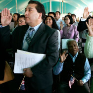 Immigrants Sworn In As New US Citizens