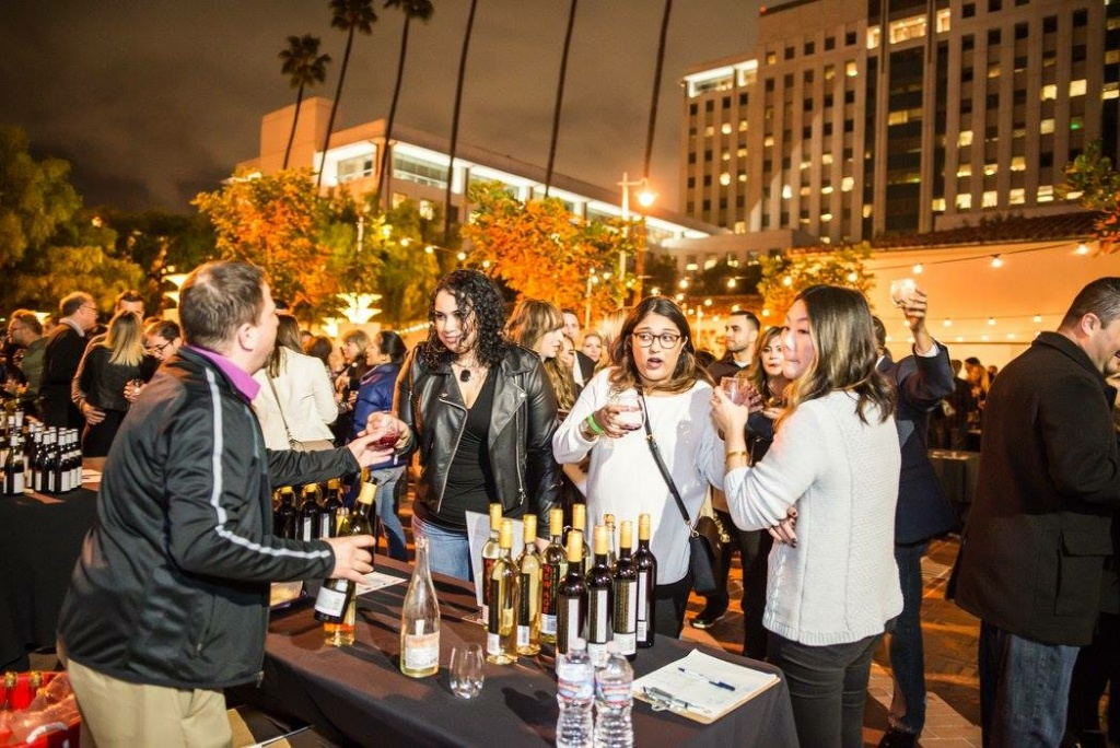 Revelers try various wines at Uncorked Los Angeles 2017, held at Union Station.