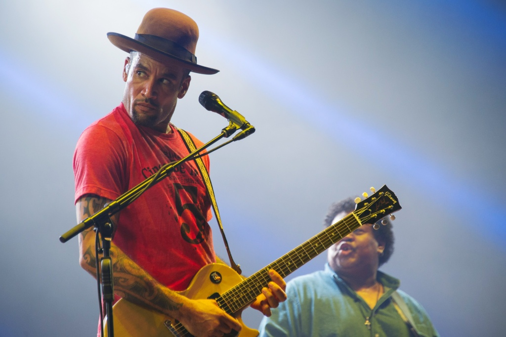 Musician Ben Harper performs on stage during the 27th Eurockeennes festival in Belfort, France on July 3, 2015.