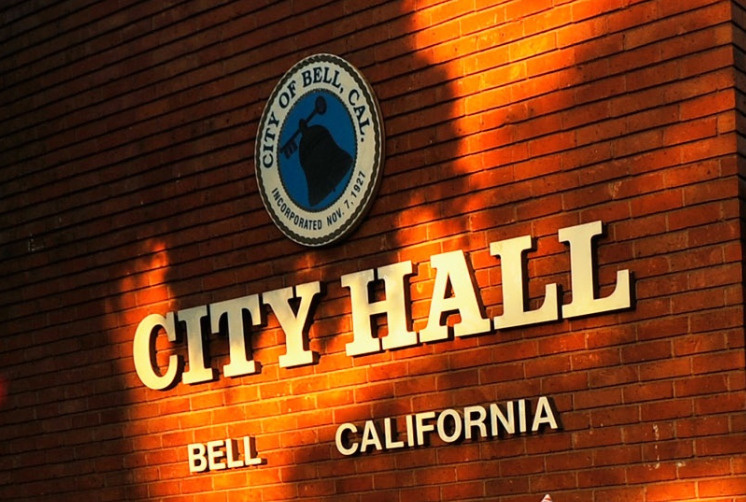 Bell City Hall on September 21, 2010 in Los Angeles, California.
