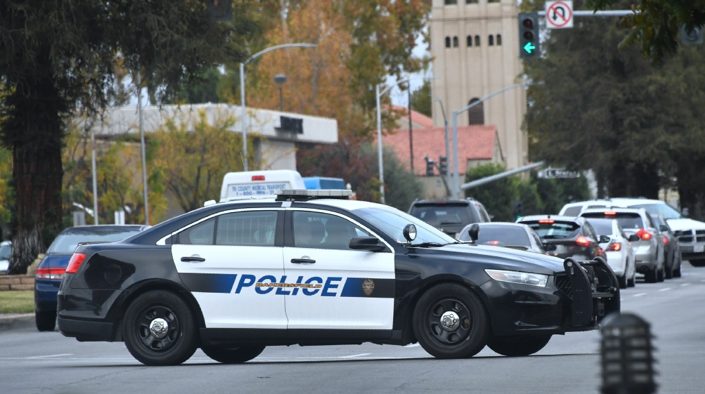 A Bakersfield police vehicle makes patrols