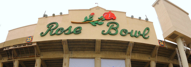 The Rose Bowl in Pasadena, California.