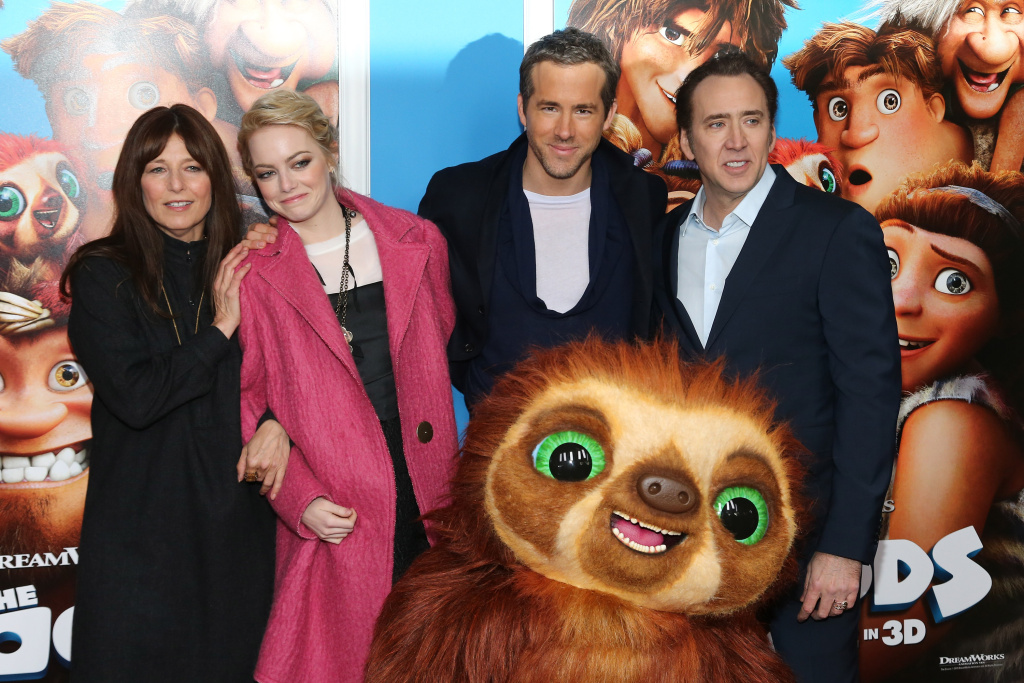 Actors Christine Keener, Emma Stone, Ryan Reynolds and Nicolas Cage attend