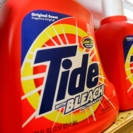 Tide laundry detergent, made by Procter & Gamble Co., is seen on display at the Arguello Supermarket January 28, 2005 in San Francisco.