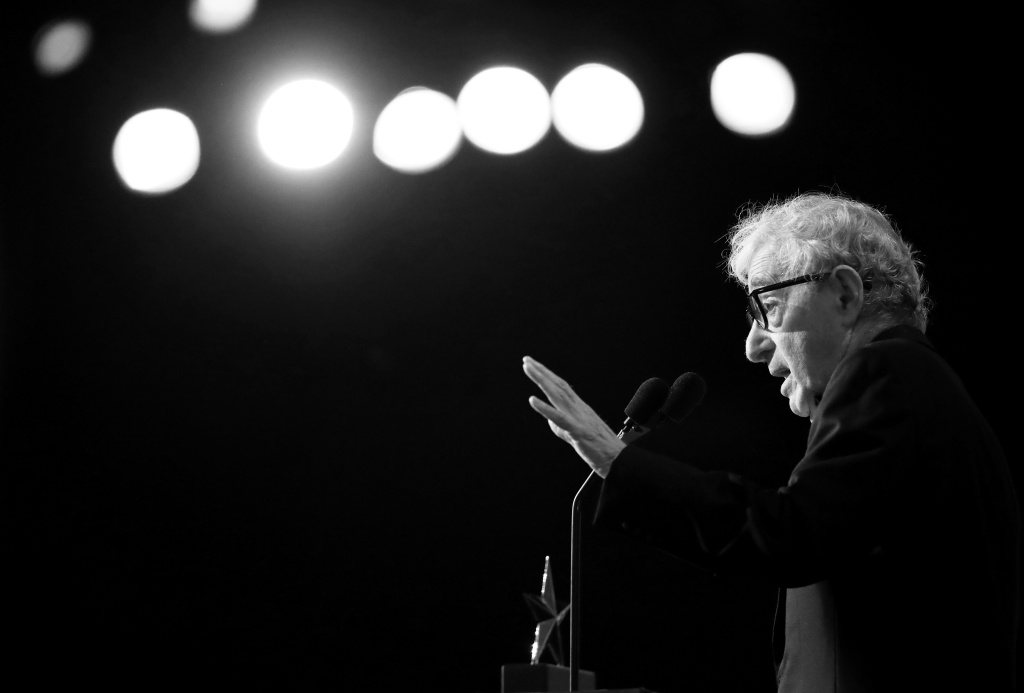Director Woody Allen speaks onstage during American Film Institute's 45th Life Achievement Award Gala Tribute to Diane Keaton at Dolby Theatre on June 8, 2017 in Hollywood, California.