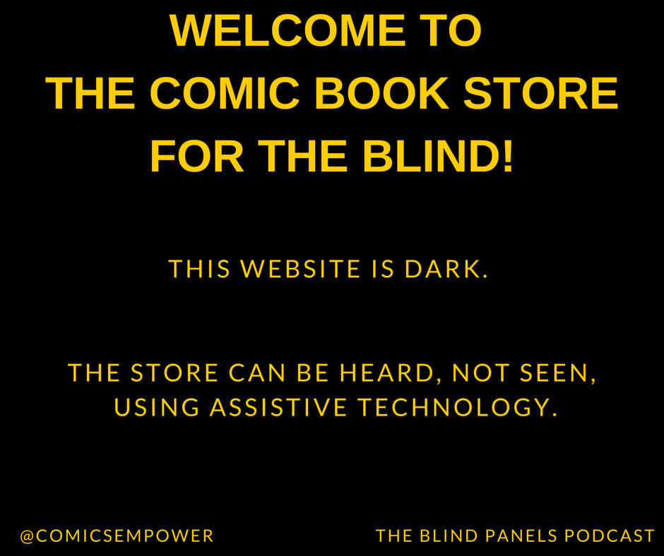 This is what the Comics Empower website looks like for people who are 'sighted.'