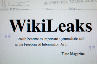 MIAMI - JULY 26: The homepage of the WikiLeaks website is seen on a computer after leaked classified military documents were posted to it July 26, 2010 in Miami, Florida.