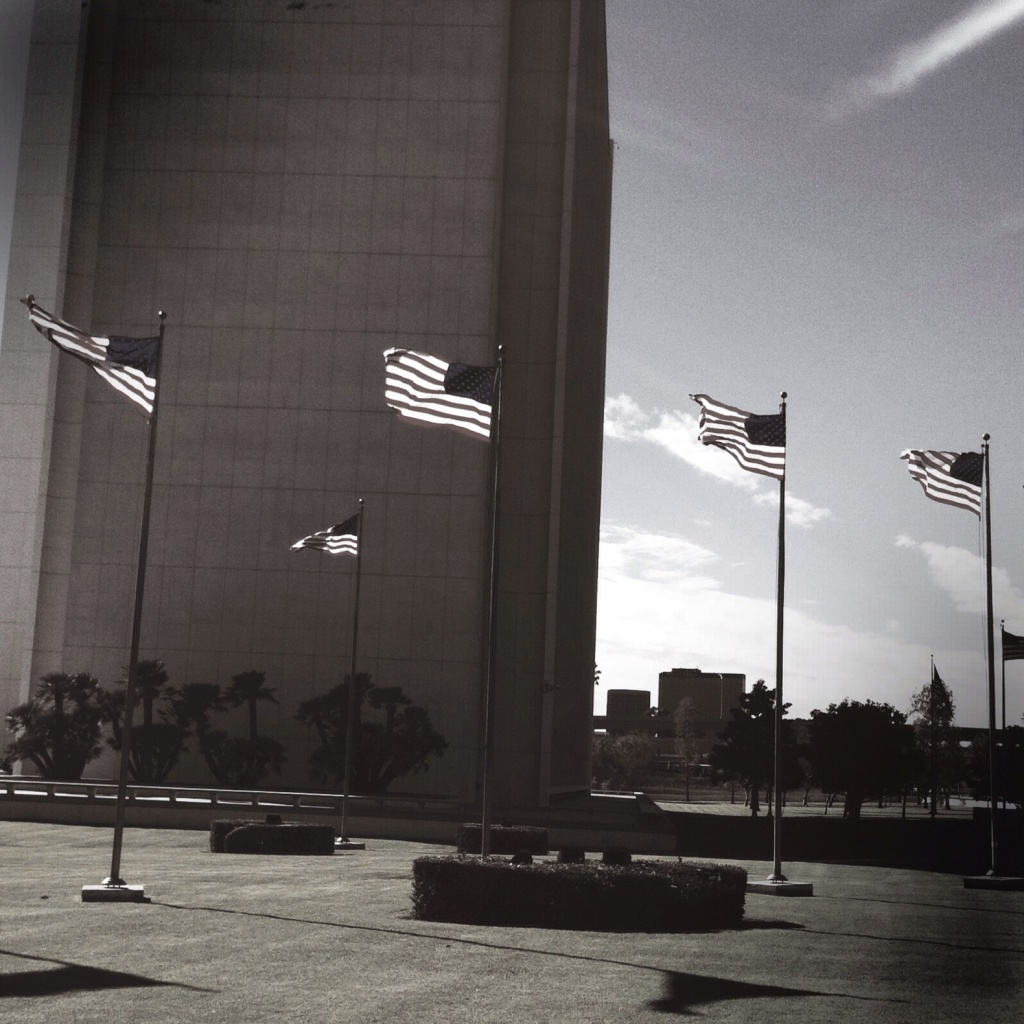 Stock image shows the federal building in Westwood. During a protest last week, a Federal Protective Service officer fired his weapon at protesters. No one was hit. The officer has been placed on administrative leave.