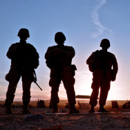 U.S. Marines (USMC) silhouetted against the sunset on June 1, 2012. The U.S. Department of Agriculture's (USDA) partnership with Operation Warfighter is just part of our commitment to helping veterans transition into civilian careers after their military service. USMC photo.