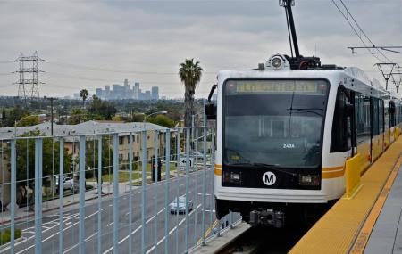 metro gold line subway rail la cienega