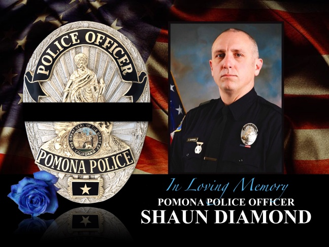 Officer Shaun Diamond, a 16-year police veteran, was shot Tuesday morning while serving a search warrant in San Gabriel. He died early Wednesday, October 29, 2014.