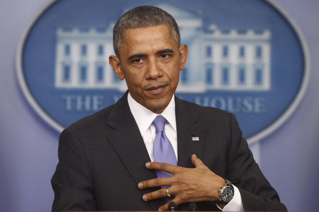 President Barack Obama speaks about his signature health care law, Thursday, Nov. 14, 2013.