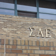 The Sigma Alpha Epsilon house at the University of Oklahoma on Monday, March. 9, 2015 in Norman, Oklahoma. The SAE fraternity has been banned from campus after a video surfaced of members shouting and singing racial slurs.
