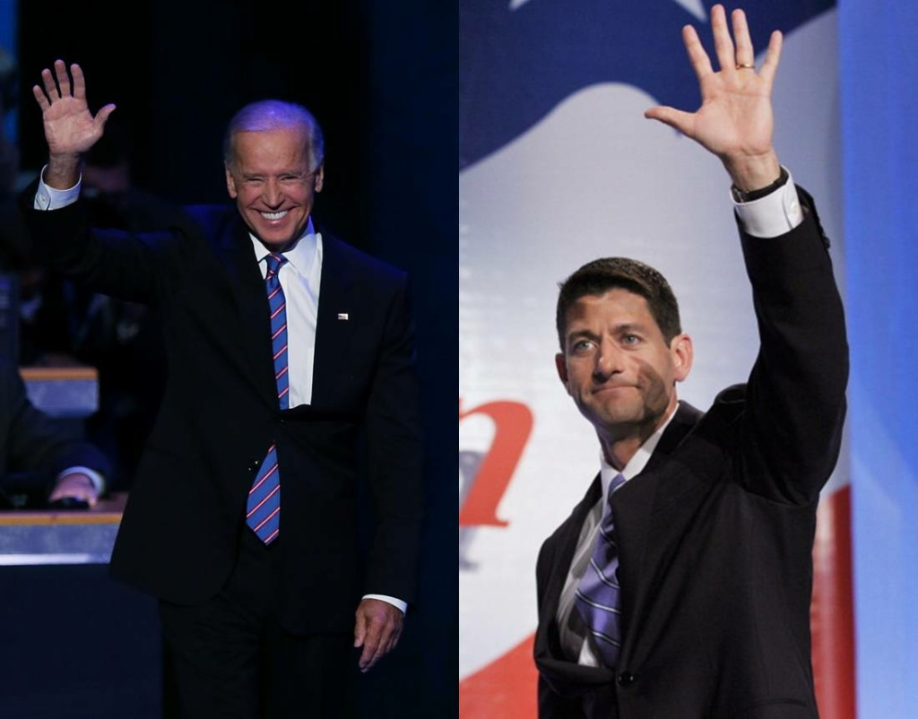 A composite of Vice President Joe Biden (L) and Vice Presidential Candidate Paul Ryan.