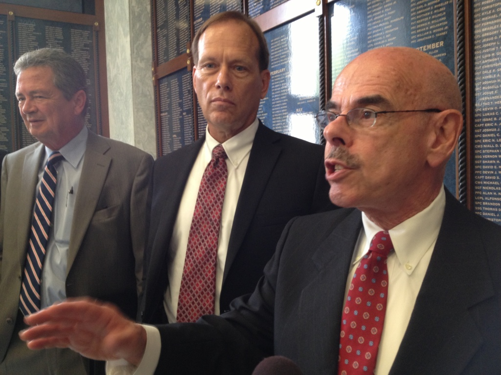 LA Democrat Henry Waxman, right, says his task force is looking at climate change
