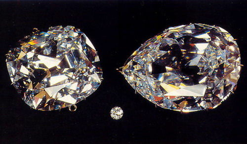 Two of the world's largest diamonds, the Cullinans I and II.