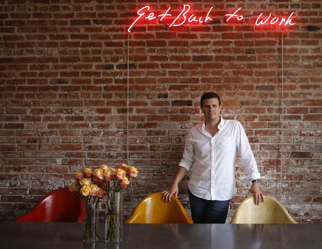 Dollar Shave Club CEO and co-founder Michael Dubin at the company's headquarters in Venice.