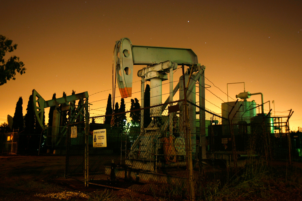An oil well in Signal Hill, California.