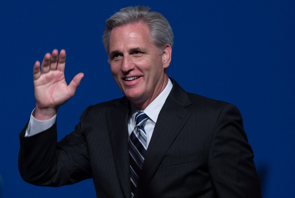 New Majority Leader of the US House of Representatives Kevin McCarthy arrives to speak during the Faith and Freedom Coalitions Road to Majority Conference on June 20, 2014.