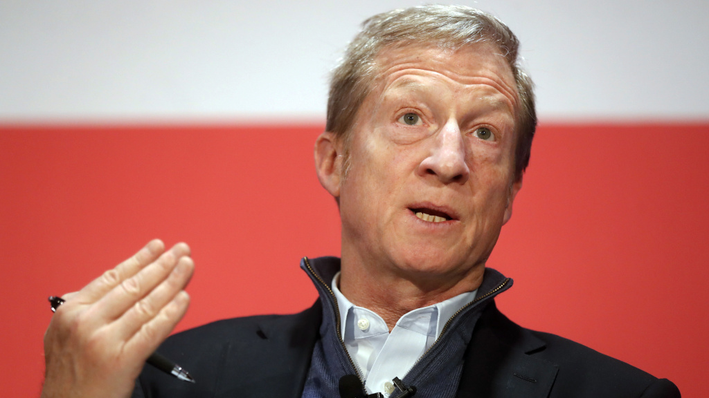Political activist Tom Steyer speaks during a