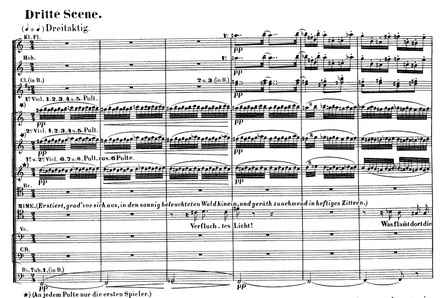 """Fig 4 """"Migraine aura leitmotif"""" in Siegfried, act 1, scene 3, uses a scintillating melody line with an underlying zig-zag pattern."""