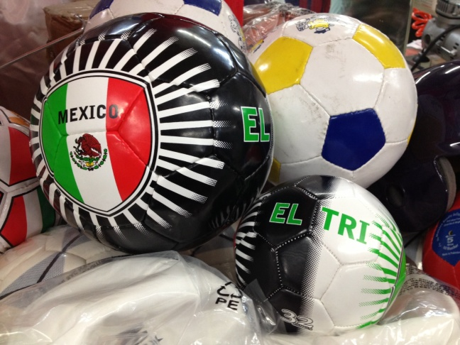 Special soccer balls on display for fans of