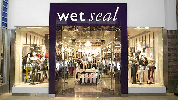 Sales at Wet Seal stores opened at least a year declined in January.