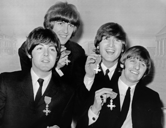 British band The Beatles (from Left), Pa