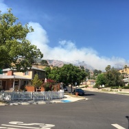 Burbank brush fire on Hamline