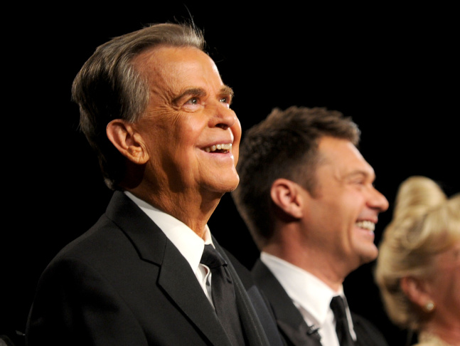 TV pioneer Dick Clark at the 37th Annual Daytime Emmy Awards. Dick Clark died of a heart attack on Wednesday April 18, 2012.