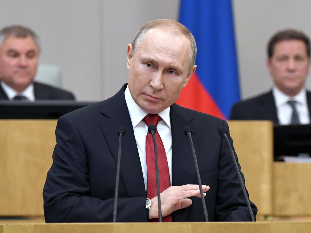 Russian President Vladimir Putin told lawmakers on Tuesday that he supports a proposed constitutional amendment that would allow him to seek another term and remain in power.
