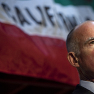 California Governor-elect Jerry Brown speaks during a press conference at his campaign headquarters on November 3, 2010 in Oakland, California.