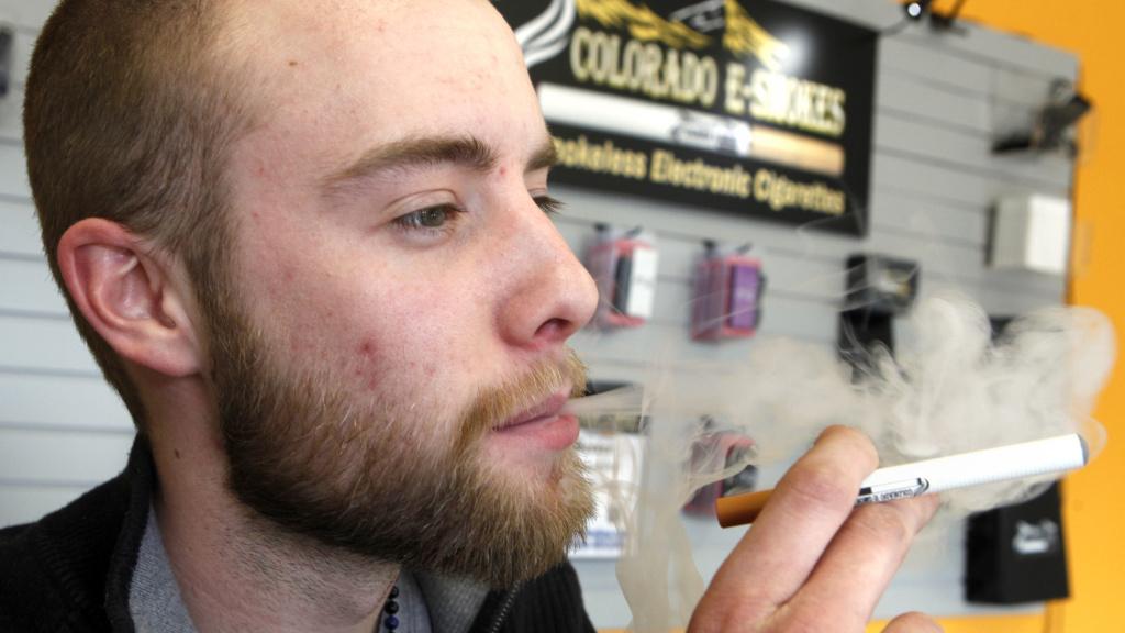 Blair Roberts, a 22-year-old sales associate at Colorado E-Smokes,