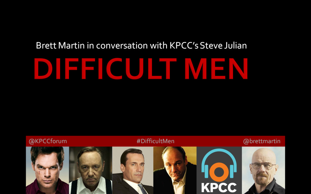 Author Brett Martin joins KPCC's Steve Julian, host of Morning Edition, as they delve into the psyche of the infamous and entertaining figures of the new golden age of TV.