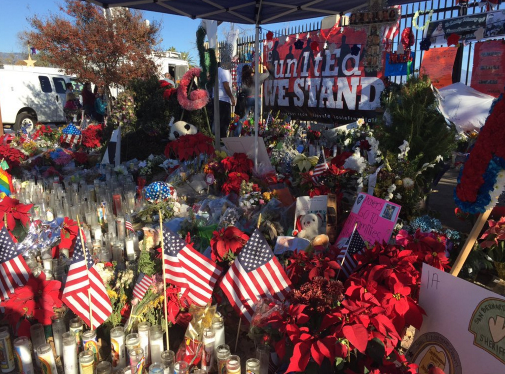 President Barack Obama is opening his Christmas vacation on a somber note, by meeting with families of the 14 people who were killed in the San Bernardino shooting. The smell of flowers, candles and Christmas trees filled to streets of San Bernardino Friday, December 13.