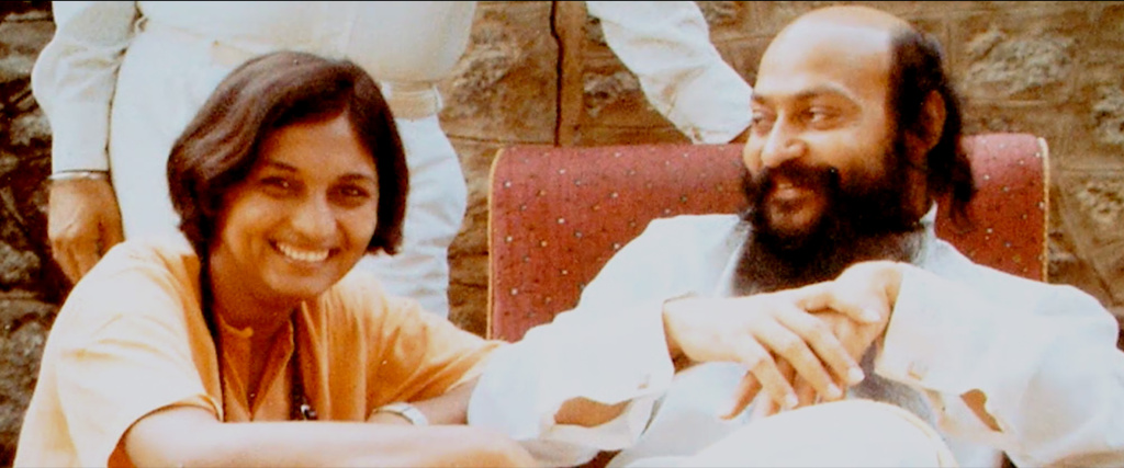 Ma Ananad Sheela and Bhagwan Shree Rajneesh in